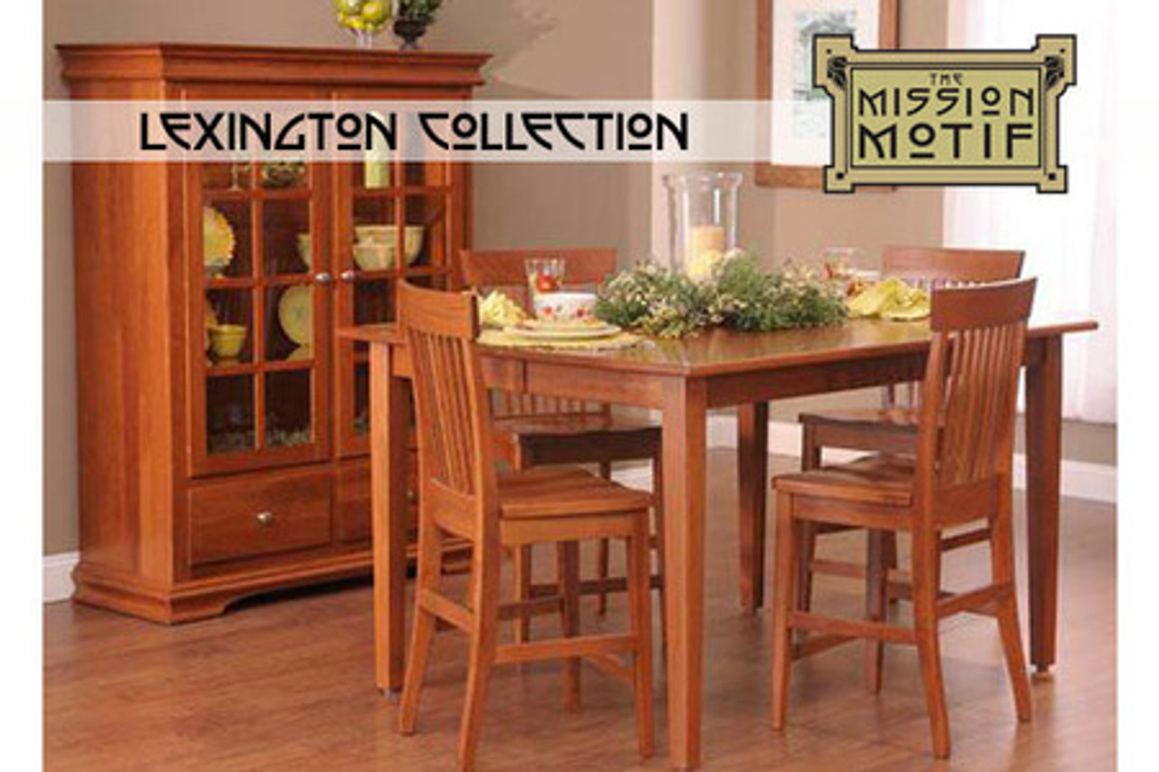 Dining Room Counter High Table and Four Counter High Chair Set
