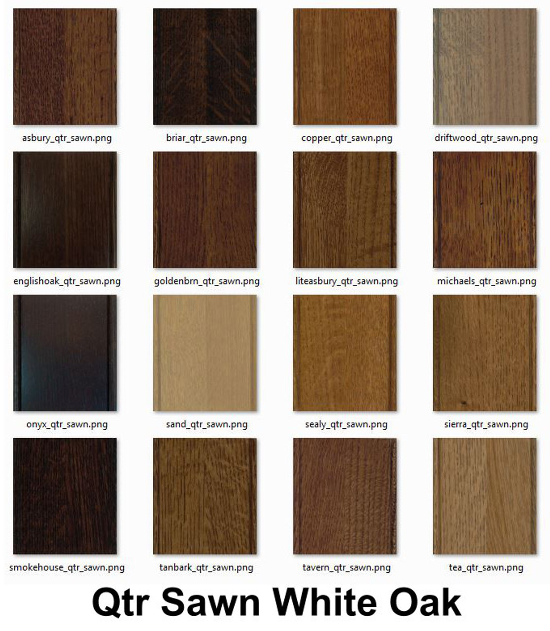 Quartersawn White Oak Wood Samples