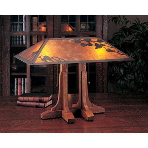 the mica lamp company oak library lamp ml040