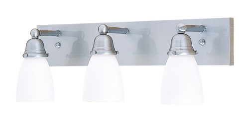 Simplicity SLB-3 with three antique white art glass shades
