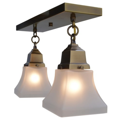 Ruskin RCM-2 with 2 Art Glass Shades