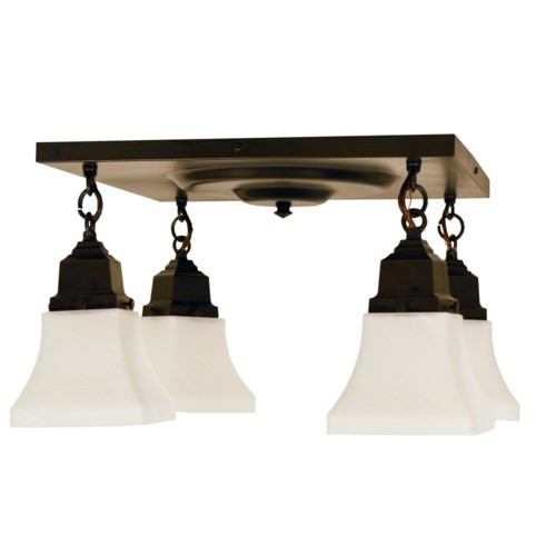 Ruskin RCM-4 with Four Art Glass Shades