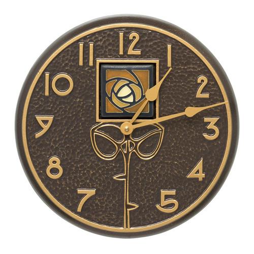 Dard Hunter Amber Tile Clock