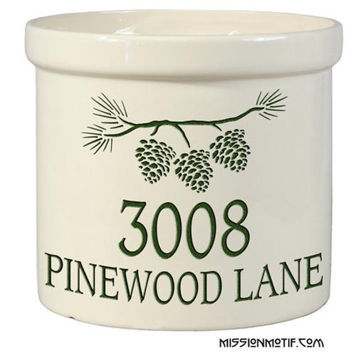 Pine Bough Crock 2551
