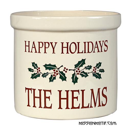 Holiday Holly Crock 2554