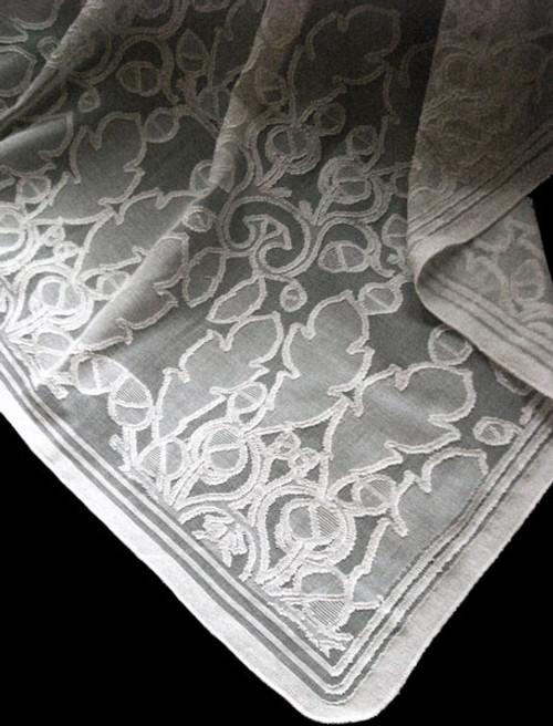 Oak and Acorn Lace Curtain