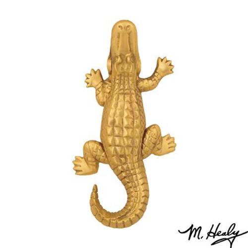 Alligator Door Knocker Brass