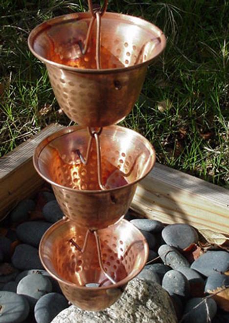 Copper Bell Rain Chain
