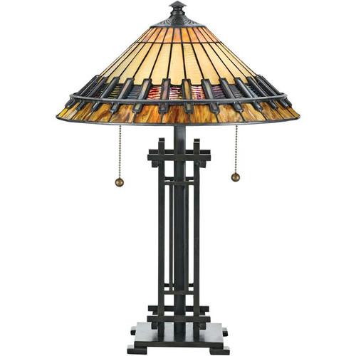 Mission style table lamps arts crafts tiffany style table lamp aloadofball Images
