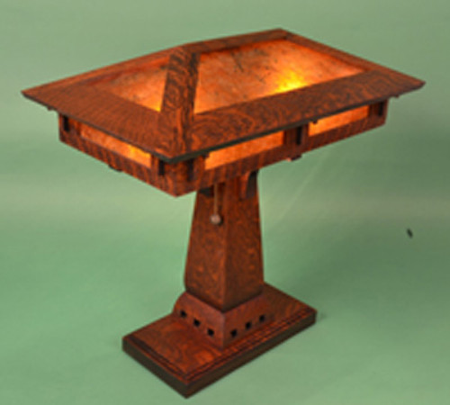 Craftsman mica prairie desk lamp the mission motif craftsman prairie desk lamp aloadofball Images