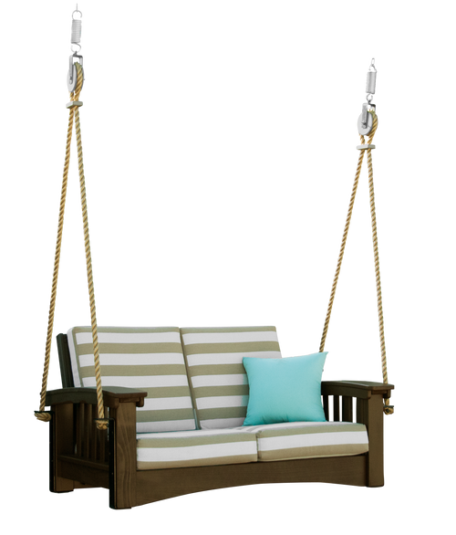 Mission Cypress Loveseat Rope Swing