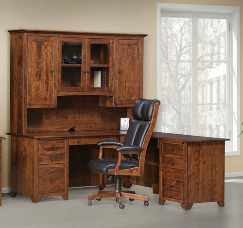 L desk with hutch