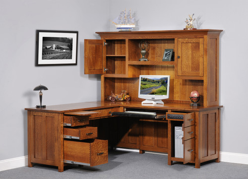 Coventry L-Desk with Hutch