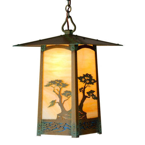 "Cobblestone Chain Pendant with  6-1/2"" Roof 632-4"
