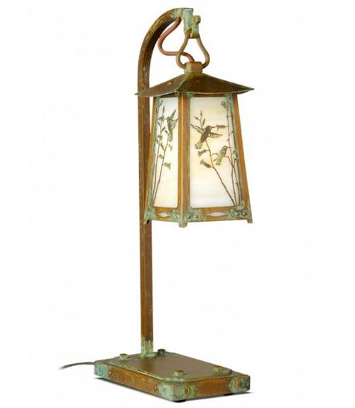 Hummingbird Hook Arm table Lamp