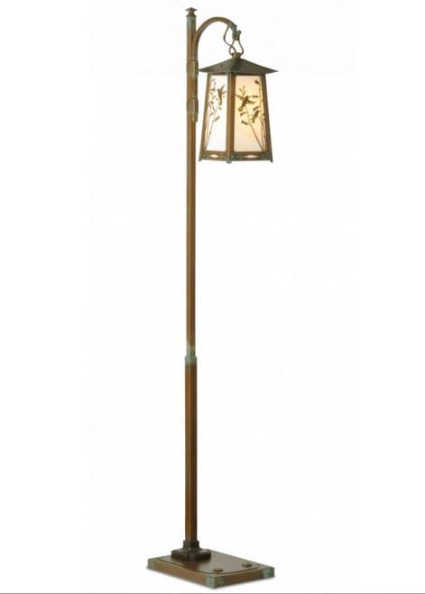 Hummingbird Hook Arm Floor Lamp