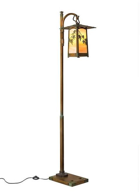 Japanese Maple Hook Arm Floor Lamp