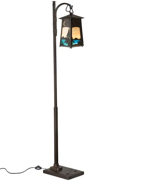 Spruce Filigree Hook Arm Floor Lamp