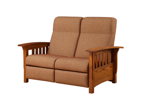 Classic Mission Love Seat Recliner 162-ELM