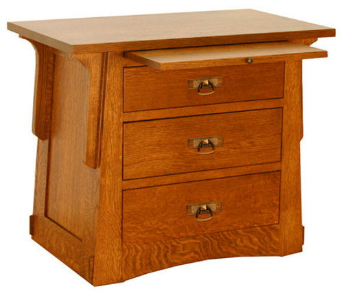 Aurora Crofter 3 Drawer Bedside Table ACW-3303S-F