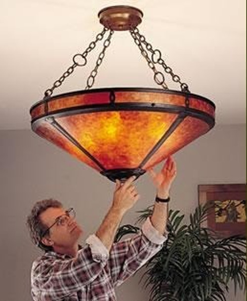 the mica lamp company super grand mission chandelier 116s
