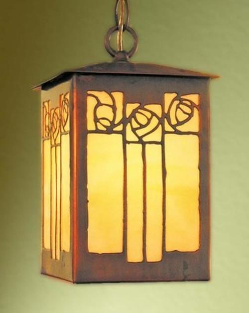 Lantern Pendant - Rose Design