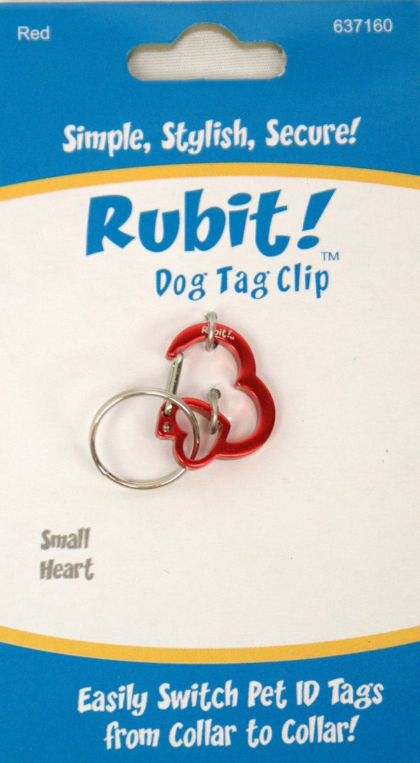 Small Heart Dog Tag Clip