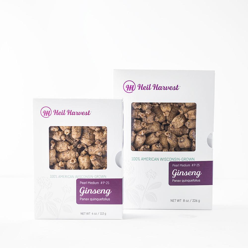 Premium Wisconsin Ginseng Gift Box Grades Pearl Medium #P-25