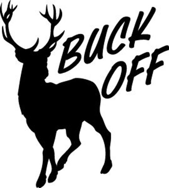 Buck Off Deer Sticker