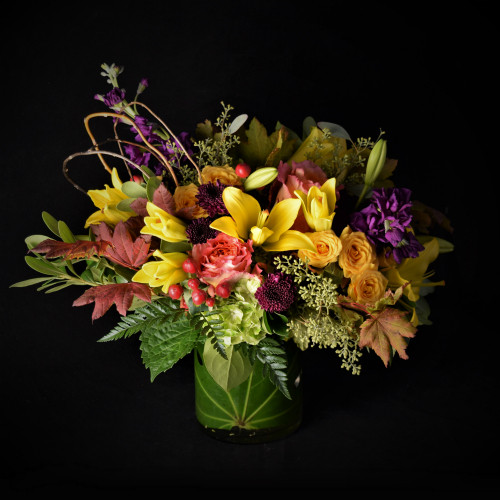 FALL ROSES AND LILIES