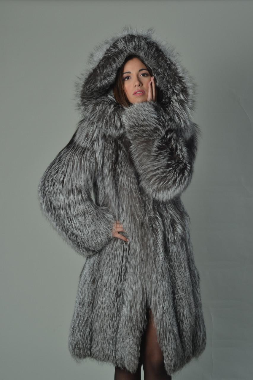 Fox Fur Jacket With Hood