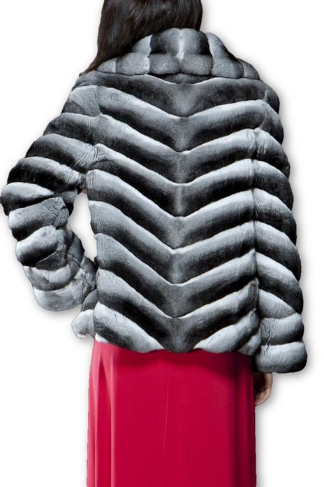 Chinchilla Fur Coat Luscious Collar