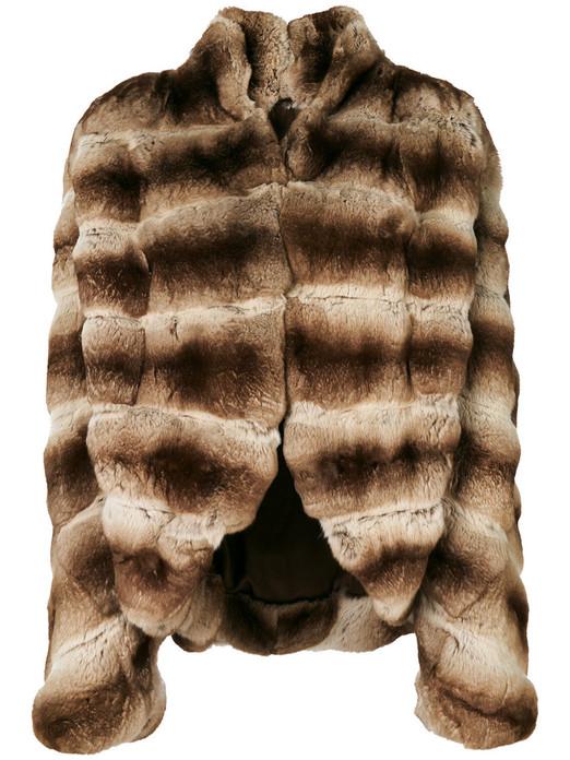 Cream Chinchilla Fur Jacket