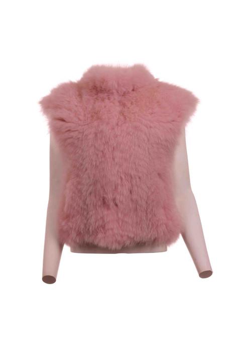 Pink  Fox Vest Let Out