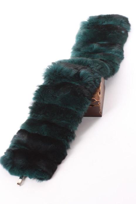Green Chinchilla Collar Trim