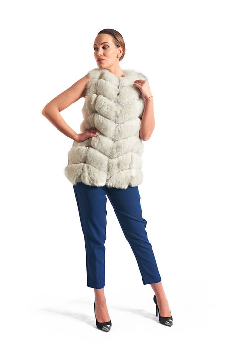 Off White Fox Fur Vest