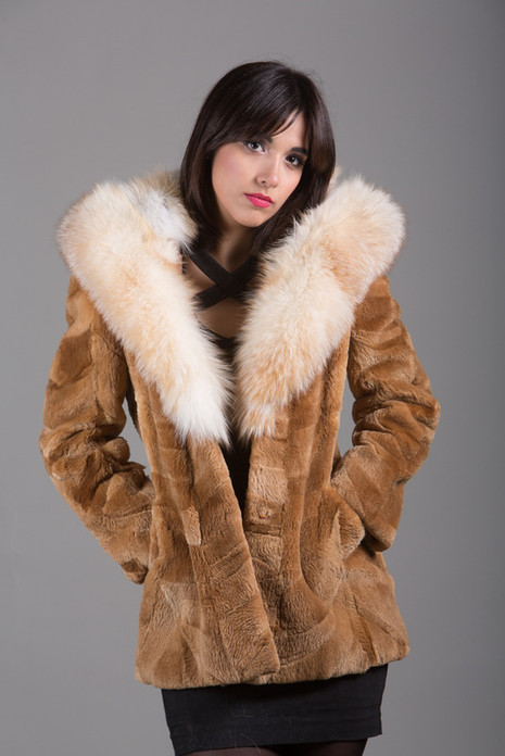 Beaver Fur Coat Cobra Hood