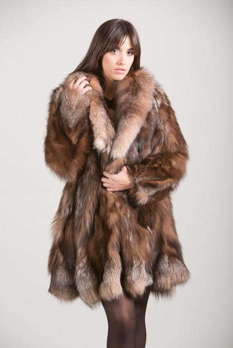 Crystal Fox Fur Coat Skandinavik Fur