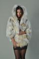 Golden Fox Fur Cape Hooded