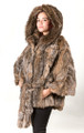 Canadian Lynx Fur Cape Hood Belt