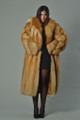 women's red fox fur coat