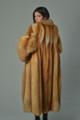 ladies red fox fur coat