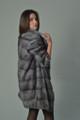 sapphire mink fur coat knee length