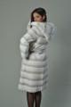 White Rex Fur Coat Hood and Belt