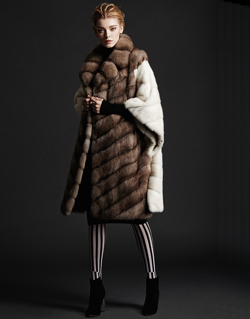 Mink fur coat with sable: features, models, types and reviews