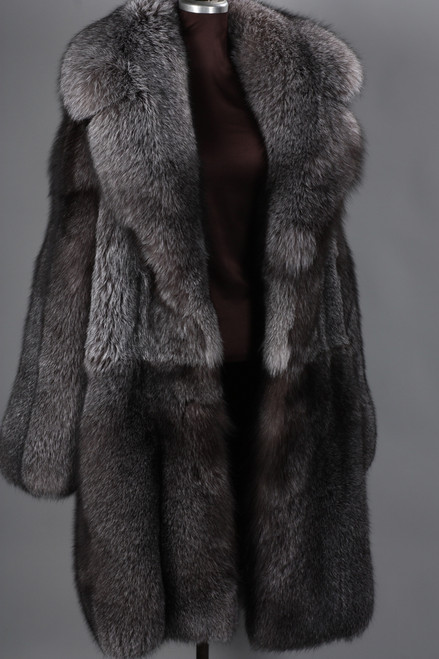 Blue Frost Fox Mens Fox Fur Coat Skandinavik Fur