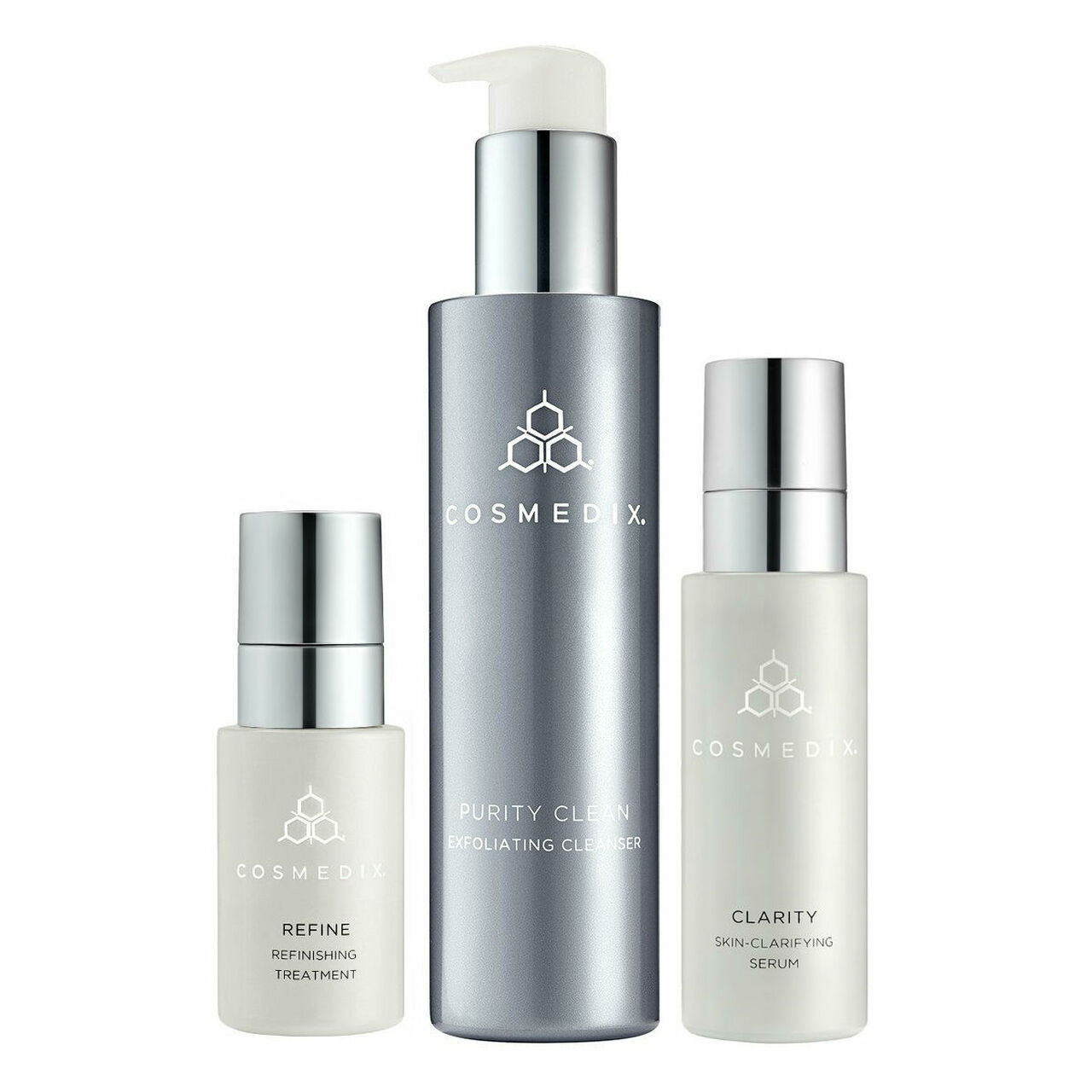 2 Pack - CosMedix Clarity Skin-Clarifying Serum 1 oz Karite Lips Shea Butter Lip Balm With Vanilla By Mode De Vie - 0.15 Oz, 6 Pack