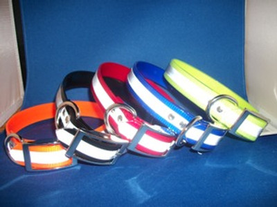 """1"""" D Ring Only Reflective Sunglo Collar"""