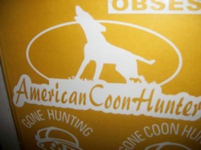 American Coon Hunter Window Decal