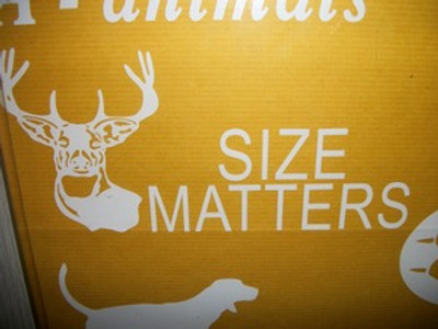 """Size Matters"" Window Decal (With Buck Head)"